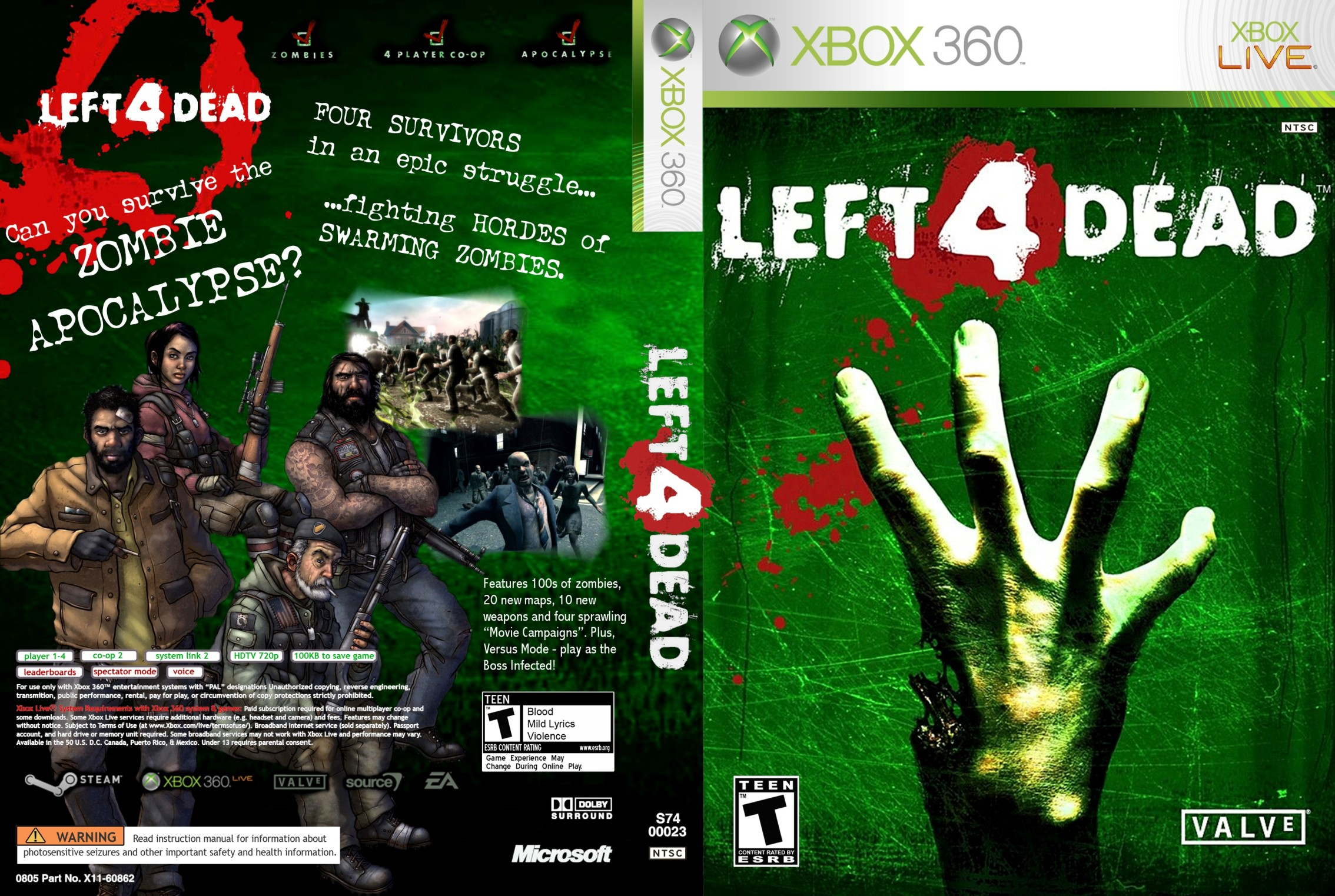Cartoon of xbox 360 left 4 dead  pron thumbs